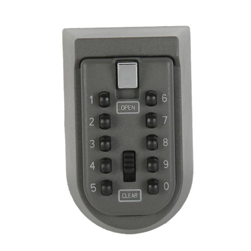1pcs Black Security key Locker Outdoor Combination Hide Key Safe Lock Box Storage Wall Mounted New