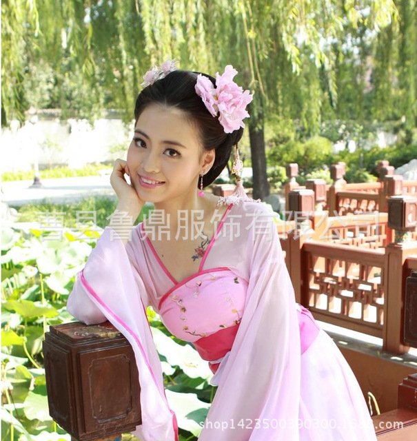Luxury Women Cosplay Stage Chiffon Costume dance dress clothes fairy princess tan suit hanfu queen Chinese ancient clothing L172