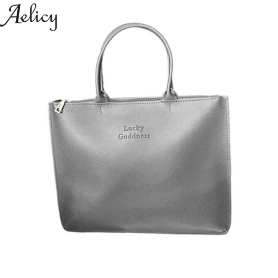все цены на Aelicy New Arrival Women Fashion Handbags Pu Leather Shoulder Lady Bags Messenger Big Leisure Handbag for Women bolsas feminina