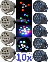 10xLot Free Shipping 12x3W Led Stage Light RGBW Flat Par Can Lights With DMX512 for Disco DJ Projector Machine Party Decoration