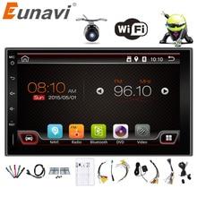 2017, распродажа eunavi 2 DIN Android 6.0 2din Новый универсальный автомобильный Радио двойной стерео навигация GPS в тире ПК видео 2 г оперативной памяти (опционально)