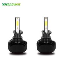 Yhkoms H1 светодиодный авто лампы H3 H7 H8 H9 H11 9005 9006 HB3 HB4 880 881 H27 фар Светодиодный D2S d1S 60 Вт 6000lm удара диода авто лампы 12 В