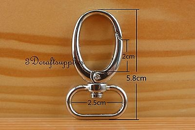 Lobster Clasps Clips Claw purse hooks Swivel snap hook silver 25 mm 6pcs J9 owner 52567 16 hooked snap swivel 9 шт
