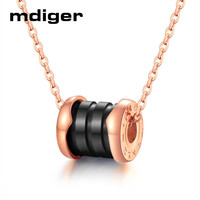 Mixed 4 PCS/LOT Fashion Titanium Pendant Roman Digital Necklace Steel Chain Ceramic Pendant Necklace Lovers Accessories