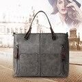 Sacos de Bolsas de Couro das mulheres 2017 Sacos de Mulher bolsa de Ombro de Luxo Do Vintage PU Tote Bag Designer Bolsas de Alta Qualidade Grande Saco Preto