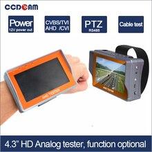 Бесплатная доставка 4.3 дюймов функции дополнительно 1080 P CVI TVI AHD CVBS камера Тест с цветной Монитор Тестер 12 В Выходная Мощность 485 Тест