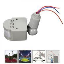 LED Infrared PIR Motion Sensor Detector Wall Light Switch 140Degree 12M 110V-240V