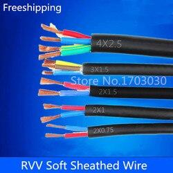 13 AWG 2.5MM ^ 2 RVV 2 rdzenie kołki przewód miedziany przewód elektryczny RVV czarny 10M