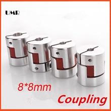 CNC Щековая Паук муфта 8 мм * 8 мм вала 8 мм до 8 мм D20mm L30mm