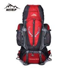 Gran 85L Mochila de Viaje Unisex Al Aire Libre Mochilas de escalada mochilas de Senderismo de gran capacidad Multi-propósito acampar bolsas de deporte