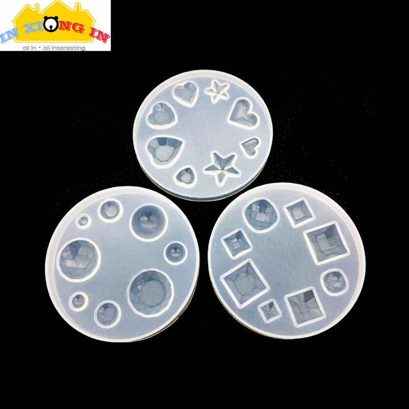 3x Oval Domed Cabochon Pendants Charms Silicone Jewelry Making Mould Tools