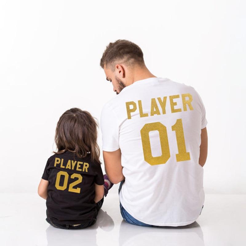 Ojciec syn koszula stroje mnie i Mini Me odtwarzacz 01 dla  TVzHX