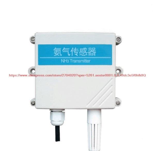 Livraison gratuite capteur d'ammoniac NH3 transmetteur 4-20mA/0-5 V/0-10 V détecteur de gaz de concentration d'ammoniac de tension analogique RS485