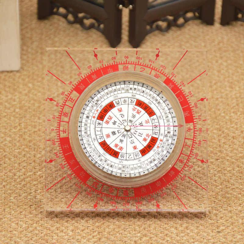Feng shui Cinese Antico Plexiglass Luopan Bussola Elaborato Rotonda Luo Pan accessori decorazione della casa