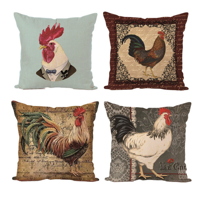 Nice Cock Rooster Cushion Pillow Cover Decorative Pillows Covers Case For Sofa  Chair