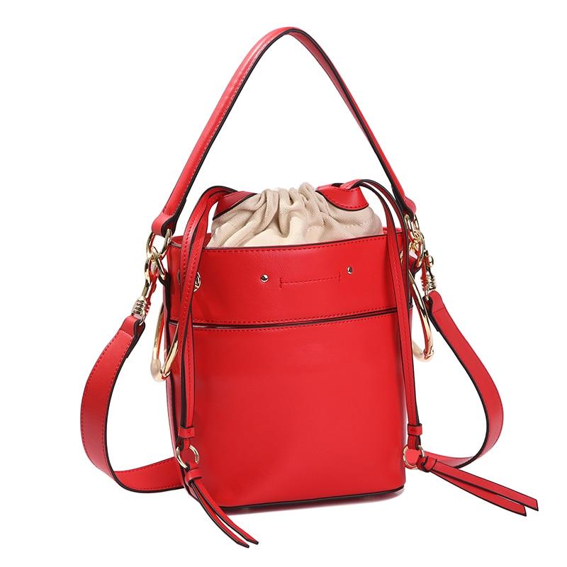Sheng lun lai sac à bandoulière en cuir de vache pour femmes sacs à main en cuir véritable sac seau 100 marque de luxe femmes sacs Top poignée sac