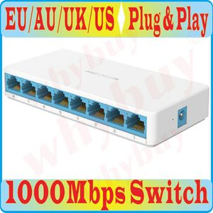free shipping, 8 Ports High Speed Gigabit Mini Network Switch RJ45 1000Mbps Fast gigabit Ethernet Network Switcher Hub Splitter