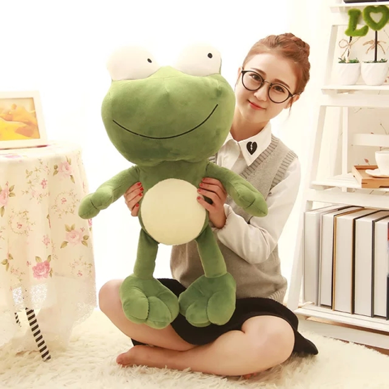 60cm Cute Frog Soft Toys Stuffed With Plush Toys Toy Manufacturers Kid Gift Doll Toys Birthday Gift 2016 hot sale 45cm frog superme dolls pose frog doll plush toys sesame street stuffed animal plush frog 70cm frog for gift