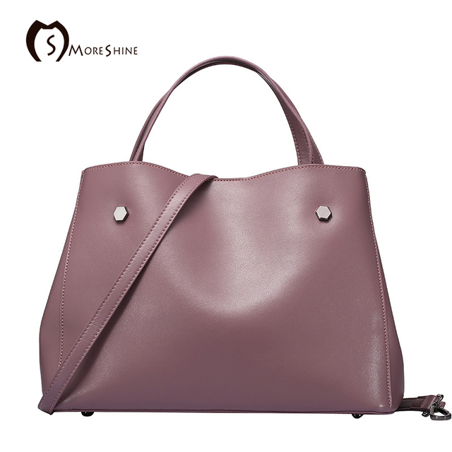 Moreshine Brand Design Genuine Leather Bags Women Tote High End Composite Per Bag Female Shoulder