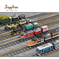 FGHGH Technic Battery Powered Electric Compatible LegoINGlys Train Citys Rail Creator Building Blocks Bricks Sets Toy For kids
