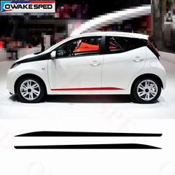 Sport Door Side Skirt Decals For Toyota AYGO 2014-2018 Racing Styling Car Performance Stripes Vinyl Decal Auto Accessories