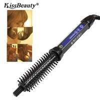 Kissbeauty Hair Curling Brush Comb Curling Iron Ceramic Styling Tools Men Short Hair Big wave Electric Hair Styling Tool