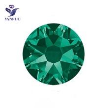 YANRUO #2088HF SS20 Emerald 1440Pcs 8 Big Small Flatback Hotfix Crystal Strass Rhinestone For Clothes Accessories