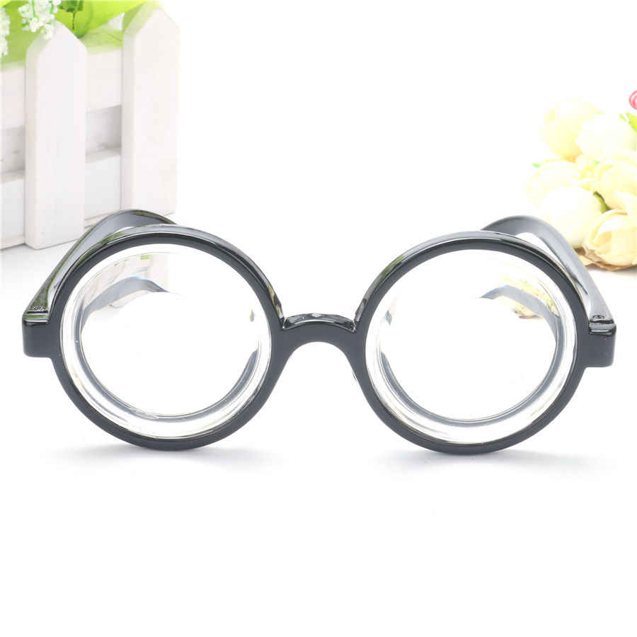 1520e3bfbb ... Vintage Round Harry Potter Frame Costume Glasses Clear Thick Lens  Graduation Photobooth Props Birthday Party Supplies ...