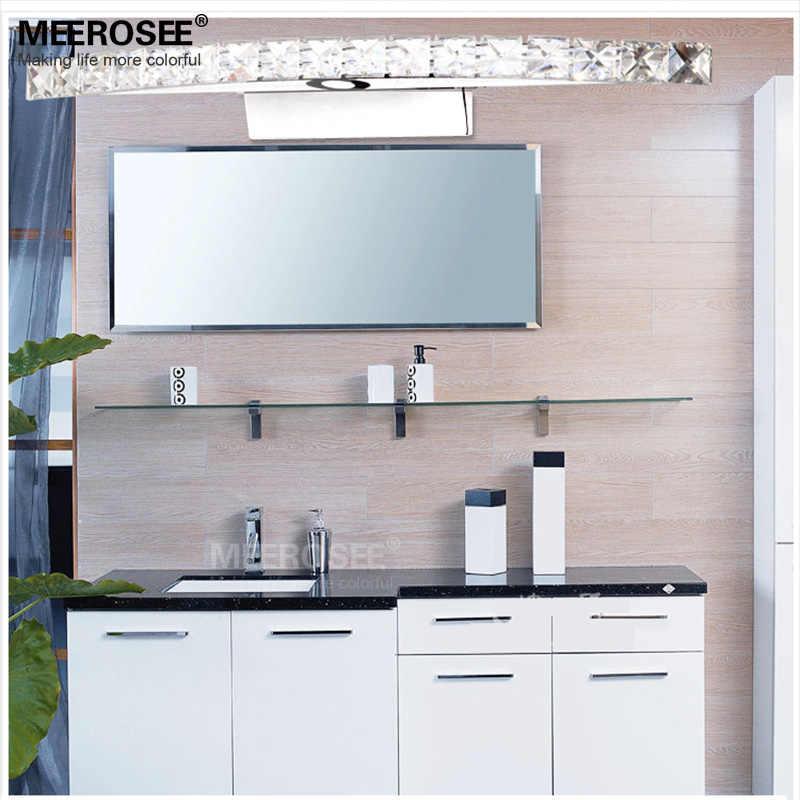 Современные светодиодный настенное бра Cristal свет светодиодный зеркало лампа Нержавеющаясталь освещения для Ванная комната Home Decor MD81539