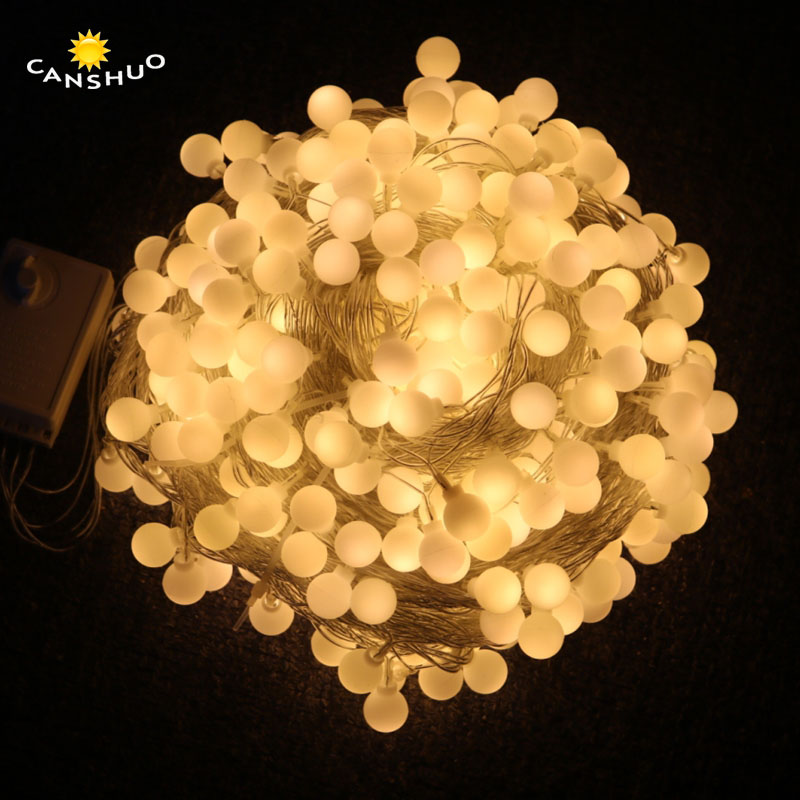 10m/20m/30m/50m Led Ball String Light Waterproof Fairy Lights Mulitcolor Garland For Christmas Wedding Outdoor Decoration(China)