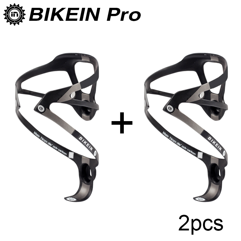 BIKEIN 2pcs Ultralight Full UD Carbon Bicycle Water <font><b>Bottle</b></font> Holder Road Mountain <font><b>Bike</b></font> <font><b>Bottle</b></font> <font><b>Cage</b></font> Black White MTB Parts 16g Only image