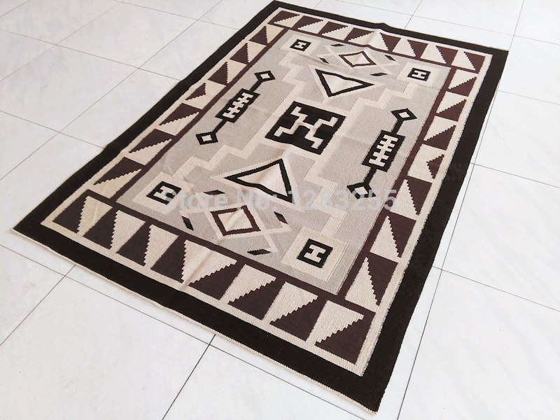 American Area Rugs For Home Nations Geometric Mexican Produce Handmade Flat Woven Carpets Navajo Rug Living Room