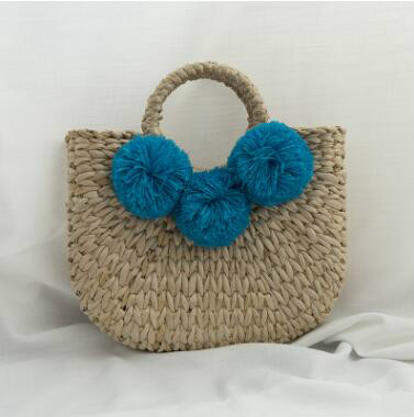 2018 Fashion Women Straw Hand Bag Summer Large Capacity Bucket Tote Bag Tassel Rattan Kniting Ladies Handbags Travel Beach Bag