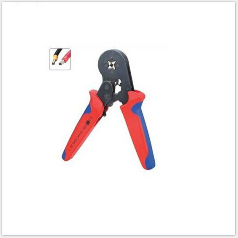 HSC8 6-4A 0.25-6 mm2 Red crimping tools for wire end sleeves high quality multi-function crimping pliers tube crimping pliers hexagon casing pipe plier for wire ferrules hsc8 6 6 special casing tube crimping crimping pliersend sleeves