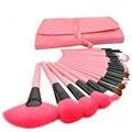 24 unids Profesional Pinceles de Maquillaje Cosmético Compone el Cepillo Rosa Kit de Herramienta Del Maquillaje + Funda de Cuero Rosa 88 HB88