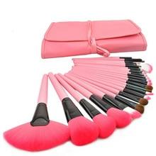 24pcs Professional Makeup Brushes Set Cosmetic Make Up Brush Kit Pink Makeup Tool +Pink Leather Case 88  HB88