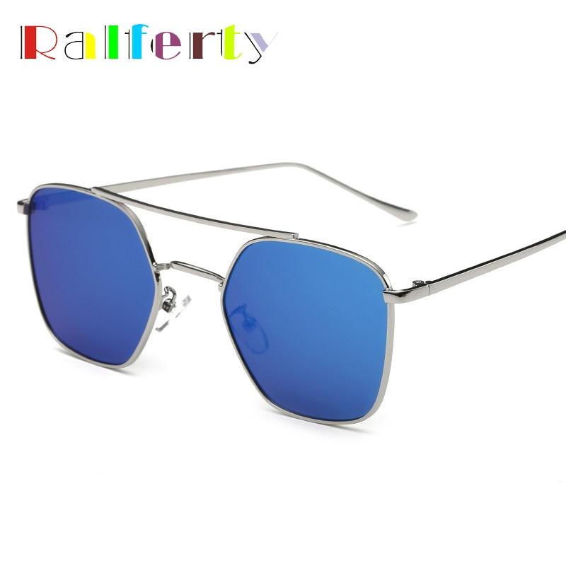 Ralferty Dames De Mode Flat Top Rétro lunettes de Soleil Femmes Revêtement  Lunettes Miroir UV400 Conduite Sport Lunettes de Soleil Oculos 2236 39caa7ea52df