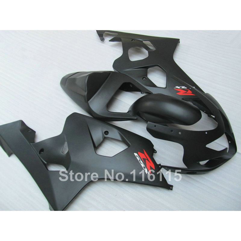 Top quality fairing kit for SUZUKI GSXR 600/750 K4 2004 2005 fairings GSXR600 GSXR750 04 05 all matte black motobike set YV76 пена монтажная mastertex all season 750 pro всесезонная