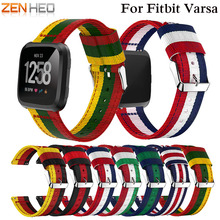 лучшая цена ZENHEO Watch Band Nylon Sports Strap Band for Fitbit versa Adjustable Replacement Watch Strap High Quality Watchbands 2018 New