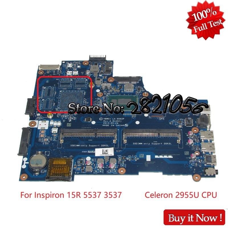 NOKOTION CN-0D28MX 0D28MX VBW01 LA-9982P For Dell Inspiron 15R 5537 3537 Laptop Motherboard 2955U CPU onboard Tested цена