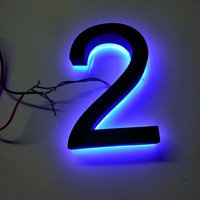 Custom Factory Waterproof Stainless Steel Backlit Led House Number Letters