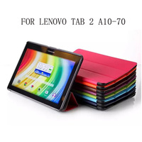 Business Pu Leather Stand Case Cover Shield For Lenovo Tab 2 A10 70 A10 70F A10