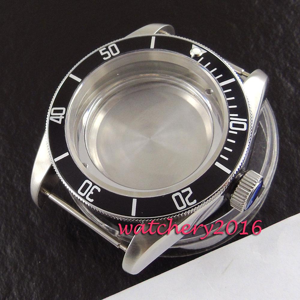 41mm corguet sapphire stainless steel case fit eta 2824 2836 miyota 8215 8205 automatic watch case цена