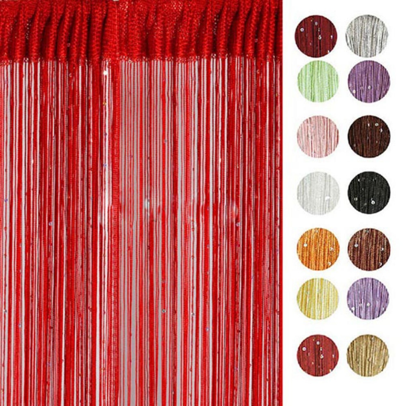 Spangle Fringe Chic String Curtain with Bead Sequin Panel Room Door Divider Hot Sale