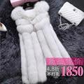 2016 Rushed Fur Horn Sleeveless Fur Vest Casacos Femininos The Winter Fur New Female Fox Vest In Inlet Integral Skin