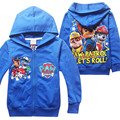 Hot Cartoon Boys Hoodies Long Sleeve Brand Children Clothing Zipper Pull Garcon Plush Baby Patrol Costume For Baby Boys 3-8 Age