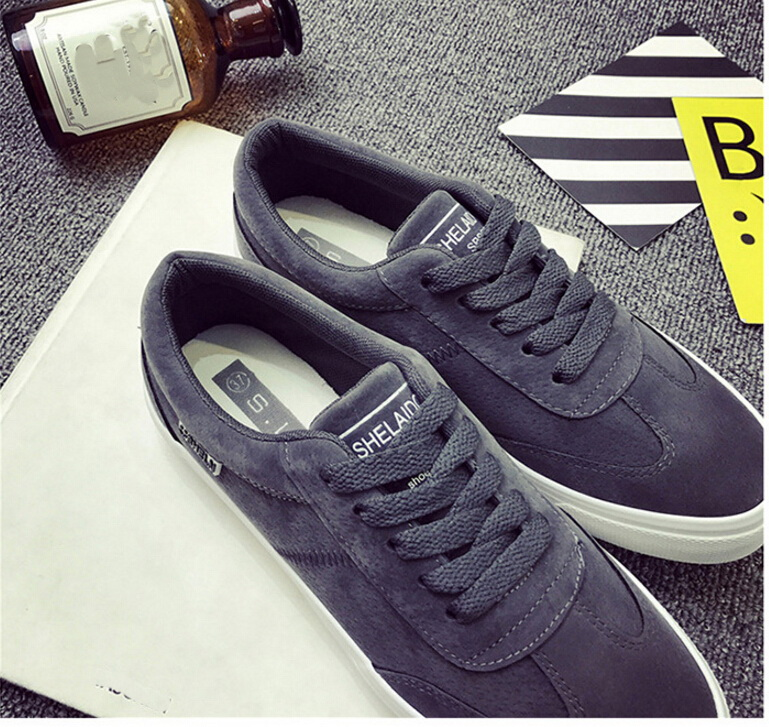 Free Shipping Spring and Autumn Men Canvas Shoes High Quality Fashion Casual Shoes Low Top Brand Single Shoes Thick Sole 7583 -  -  (4) -  -  -