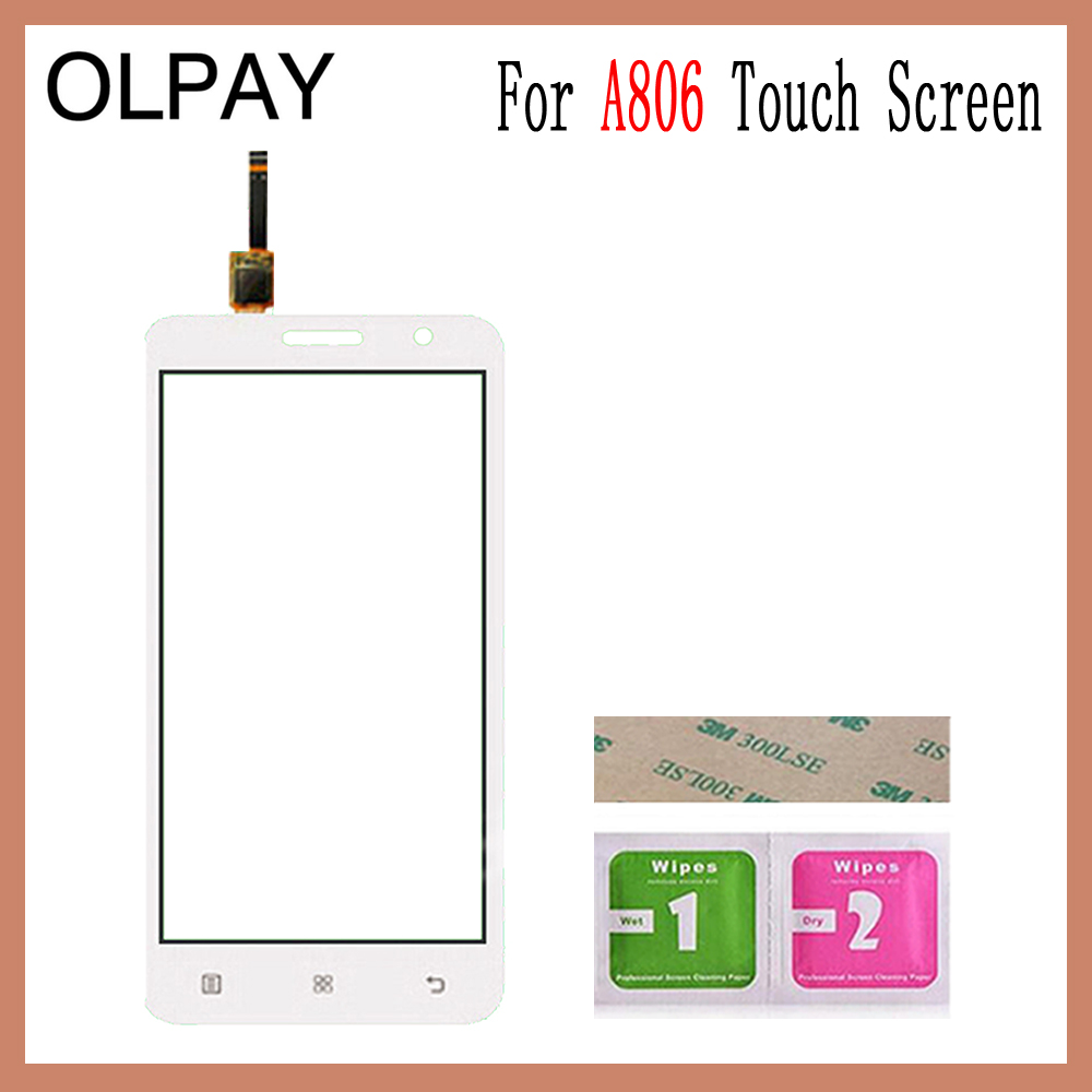 Image 5 - OLPAY 5.0'' For Lenovo A806 A806T A808 A8 Capacitive Touch Screen Touch Digitizer Panel Glass Tools Free Adhesive And Wipes-in Mobile Phone Touch Panel from Cellphones & Telecommunications