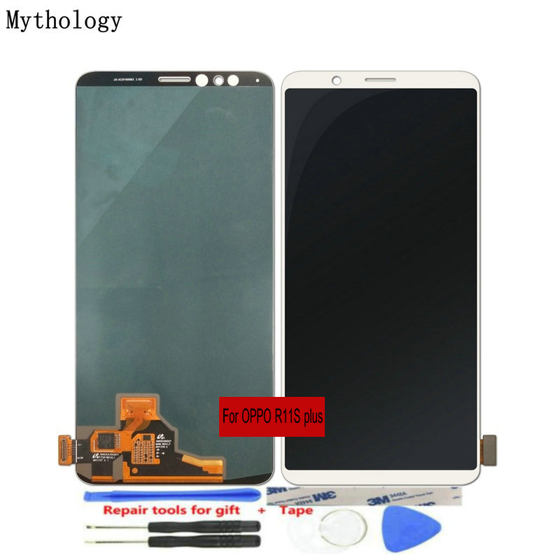 "For OPPO R11s Plus LCDs Touch Screen 6.43""Display Assembly Replacement Mobile Phone Panels Repair Tools Mythology(China)"