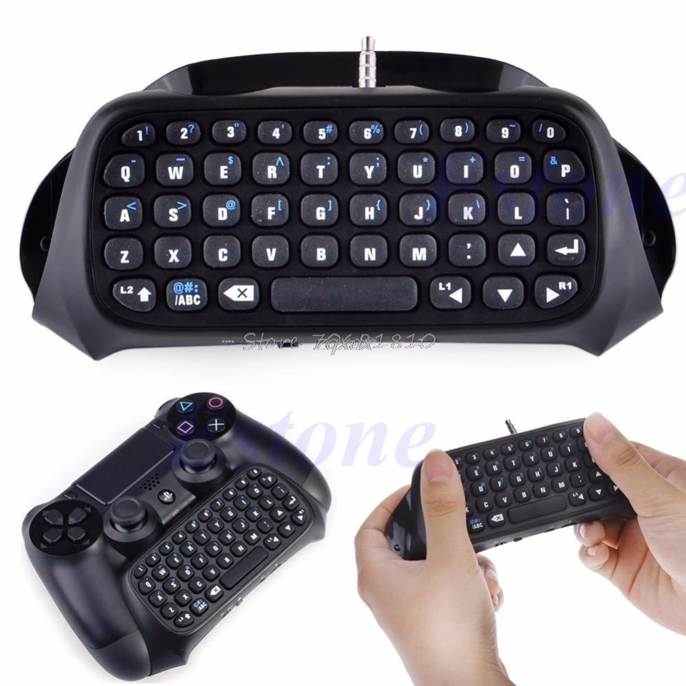 Wireless Bluetooth Keyboard Keypad Chatpad For PS4 Game Controller Z09 Drop ship